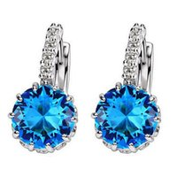 Luxury Round Earring Crystal Rhinestone Hoop Earrings Fashion Jewelry for Women  Wedding Party Stones Cubic Earrings Oorbellen 18d84757fdb5