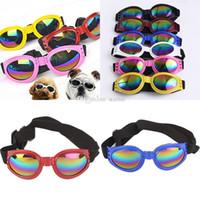 Wholesale dog sunglasses freeshipping resale online - Dog Glasses Fashion Foldable Sunglasses Medium Large Dog Glasses Big Pet Waterproof Eyewear Protection Goggles UV Sunglasses WX G14