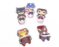 Wholesale silicone tablet stands resale online - Spiderman silicone finger phone holder Grip stent for Smartphones Tablets Flexible stand ring Holder