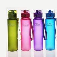 bouteille d'eau étanche achat en gros de-Bouteille d'eau de sport 400ml 560ml sans BPA anti-fuite de haute qualité