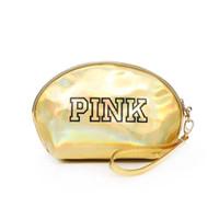 Wholesale hot pink hiking bag resale online - Hot PINK Laser Cosmetic Bag Waterproof Makeup Bags Women Laser Flash Diamond Leather Bags Kids Purse