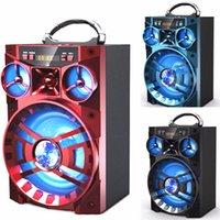 caixa de música grande venda por atacado-Alto-falante Bluetooth Speaker MS-188BT Big Som Hifi Bass Subwoofer Sem Fio Caixa de Música Ao Ar Livre Com USB LEVOU Luz TF Rádio FM DHL MIS137