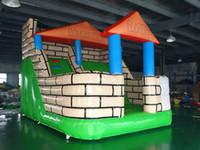 diversión inflable al por mayor-Castillo hinchable inflable para toboganes inflables para niños, juegos al aire libre y uso en interiores, envío gratis al mar
