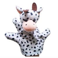 перчатки для младенцев оптовых-Cute Baby Child Zoo Farm Animal Hand Sock Glove Puppet Finger Sack Plush Toy NewModel:Cow