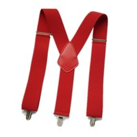 Wholesale big man suspenders - BD069-Big Size Men suspenders strong 3 clips Suspender 5cm Width Leather suspender Worker Braces