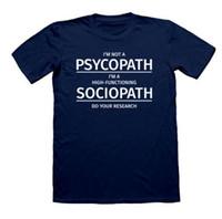 nuevas camisetas impresas al por mayor-Sherlock Holmes Sociopath DIVERTIDO TSHIRTS Psychopath Humor divertido SOY SHERLOCKED New Tops Print Letters Men T-Shirt
