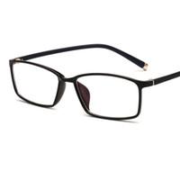 a79f1ac6489 2018 New Square tr90 Eyeglasses Frame with coating lens Men Women Optical  Plain Mirror Eye Glasses Frames for Myopia glasses oculos de grau