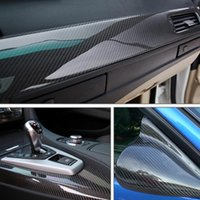 Wholesale rolled roofing - 5D Carbon Fiber Vinyl High flexible PVC DIY Removable Car Wrap Sheet Roll Film Sticker Decal 152*20cm
