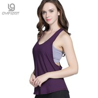 Wholesale Loose T Shirts For Girls - Ovesport Summer Workout Yoga Shirts Women Fitness Clothes Quick Dry Loose Gym Running Tank Tops Sportswear For Girls T-shirts