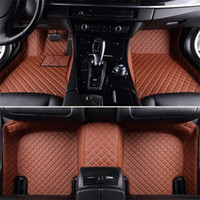 Wholesale pvc mat custom for sale - Custom Fit Specific Car Floor Mats Waterproof PU Leather For Vast of Car Model and Make Full set Car Interior Accessory Easy to Clean Mats