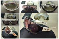 Wholesale mountian bikes - 2018 POC sunglasses 4 lens polarized Cycing Eyewear Men Women Goggles Gafas cicismo Sport Bicycle Mountian do blade MTB Sport bike glasses
