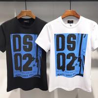 стенды для продажи оптовых-Горячие продажи прилив бренд дизайнер мужская мода футболки Lettle вышивка стенд воротник с коротким рукавом повседневная топы хлопок футболка DT382