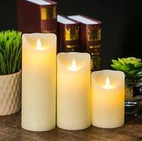 fernbedienung elektronische kerzen großhandel-Kreative LED elektronische flammenlose Kerze leuchtet Fernbedienung Simulation Flamme blinkende Kerze Lampen Haushalt Dekoration Geschenke