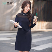 Wholesale night club products - INMAN 2018 New Products Women Spring Round Neck Loose Long Sleeves Dress