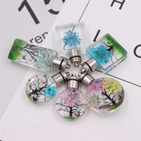 flores secas naturales de cristal al por mayor-Nueva llegada Luminous Glass Vial Necklace Bottle Necklace Retro Crystal Natural Dried Flowers Necklace regalos de Navidad resplandeciente Q0789