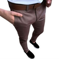 formale kleiderhose für männer großhandel-CALOFE Vintage Männer Hochzeit Anzug Hosen Fashion Solid Social Business Kleid Hosen 2018 Herbst Slim Fit Herren Formale Hose