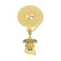 18k tanrı mücevher toptan satış-Kadınlar Için yeni Meryem Moda Kolyeler / Erkekler Takı 18 K Gerçek Altın Kaplama tanrı'nın annesi Çapraz Kolye kolye