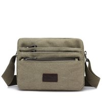 ingrosso borse piccole maschili-Nuovi Coming Fashion Men Borsa piccola! Hot Male Cute ShoulderCrossbody bag Versatile Casual Zipper Handbags Shopping Bags Bags