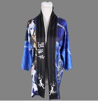 черный косплей кимоно оптовых-Kuroshitsuji черный Дворецкий Ciel японский кимоно традиционный юката кардиган хаори любовь пальто косплей Шаль халаты 2