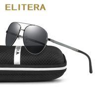 Wholesale google sunglasses for sale - Group buy ELITERA Brand Design Sunglasses Men Polarized UV400 Eyes Protect Sports Coating Sun Glasses Google Pilot D18101302