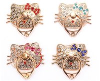 Wholesale Fashionable Phones - Fashionable Ring Phone Holder Bling Diamond zircon Unique Mix Style Cell Phone Holder For iPhone X 8 7 6s Samsung S8 cellphone stand