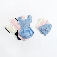 Wholesale Knitted Character Baby Hats - Everweekend Spring Autumn Cute Baby Girls Knitted Romper with Hats Newborn Baby Clothes Kids Candy Jumpsuit Infant Clothing