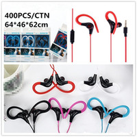 Wholesale headphones mic for cellphones resale online - Tour Wired Earphone Sports Running Stereo Earbuds Over Ear Headset Headphone With Mic For Universal Cellphones MP3 WIRE02