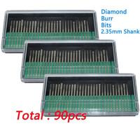 Wholesale dremel rotary drill - 90 Pcs Diamond Burr Bits Drill Glass Gemstone Metal for Dremel Craftsman Rotary Tool