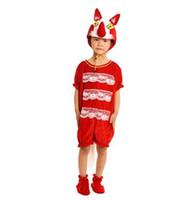 rot dunkelbraun großhandel-2018 Neue stil kinder Cosplay Rot und dunkelbraun fox Dunkelgrau wolf Tier performance kleidung Jungen und mädchen Tanzen Verbundenen kleidung ZX1-7
