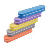mini-nagel-dateiblöcke großhandel-Dateien Puffer 5pcs Mini bunter Nagelfeilen Puffer-Block Schleifen Nägel Datei 5pcs Lime ein Ongle Nagelfeile Nail Art