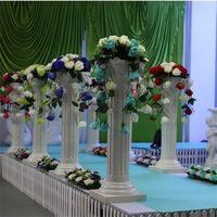 Wholesale purple artificial plants for sale - Group buy Simulation Flower Wedding Ceremony Road Plants Branch Frame Ornamental Flower Rome Column Bouquet Artificial Flowers sj gg