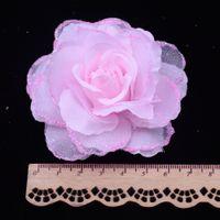 korsaj gerçek çiçek toptan satış-Ipek Çiçek 50 adet / grup 6.5 cm Ipek Gül Korsaj Düğün Dekorasyon DIY Yapay Gül Garland Dekore Yapay Çiçekler Gerçek Dokunmatik Güller