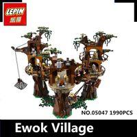 Wholesale stars wars toys - IN STOCK Free shipping 1990pcs Lepin 05047 Star Ewok Village Wars Building Blocks Juguete para Construir Bricks Toys 10236 Gifts