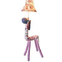 lámparas de sala de dibujos animados al por mayor-OOVOV Fabric Flag Horse Kid's Room Lámpara de Pie Lovely Cartoon Niños Dormitorio Luces de Piso Habitación de Bebé Lámparas de Pie