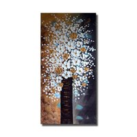 Shop single flower wall paintings uk single flower wall paintings single flower wall paintings uk white flower handmade abstract landscape oil painting home decoration modern mightylinksfo