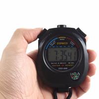 zeitstoppuhr groihandel-Wasserdichte Digital LCD Stoppuhr Chronograph Timer Zähler Sport Alarm ##
