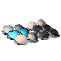 apfelförmige gläser großhandel-Frauen Polarisationslinse Sonnenbrille Männer Graceful Linien Metall Full Frame Brillen Apfel Form Sonnenbrille Für Outdoor-reisen 19df B
