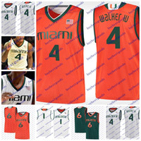 Wholesale iv s - Custom Miami Hurricanes College Basketball Jerseys 4 Lonnie Walker IV 11 Bruce Brown Jersey Any Name Any Number Stitched