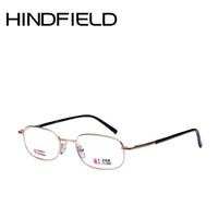 93f4b2f457b Hindfield 2018 Nouveau Cadre En Métal Lentille En Verre Lunettes de Lecture  Hommes Rectangle Optique Lunettes Femmes Haute qualité