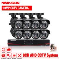 ingrosso telecamera dvr 1tb-HDD da 1TB con 8pcs AHD 720P 1.0MP Sistema di telecamere CCTV 8 canali AHD-NH DVR Kit 8 canali HDMI 1080P NVR DVR visione notturna