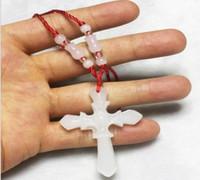 cruz de jade branco venda por atacado-Atacado branco pingente de jade pingente de jade Afeganistão branco jade cruz