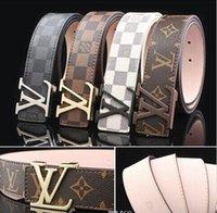 Wholesale mens designer genuine leather belts - Big buckle genuine leather belt with smooth metal designer belts men women high quality new mens belts luxury brand belt free shipping