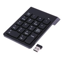 Wholesale Mini Numeric Keypad - High Quality Ultra-thin Portable Wireless 2.4G Mini 18-keys Num Pad Numeric Number Keypad Keyboard for Laptop Notebook