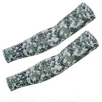 Wholesale Unisex sunscreen cycling bicycle arm sleeves fishing tactical disguise sun block elastic no slip arm warmers camouflage