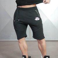 läufer mann shorts großhandel-Männer Camouflage Striped Gyms Shorts Bodybuilding Knielange Hosen Freizeithosen Fashion Brand Runner Kurze Hosen New Regular