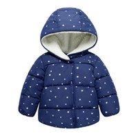 erkek çocuk başlıklı yün ceketi toptan satış-Çocuk giyim 2018 Yeni Sonbahar ve Kış Çocuk Coat Boys Ceketler Kızlar Kabanlar Çocuk Sıcak Yün Ceket Bebek Kapüşonlu Ceket
