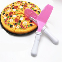 Wholesale kitchen puzzle resale online - Baby Pretend Play Kitchen Plastic Simulation Delicious Pizza Kindergarten Puzzle Toy Intellectual Development And Interactive Toys sc W