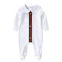 Wholesale newborn girls clothing online - 2018 new baby girls boys clothes cute Cartoon baby romper high quality cotton one piece Jumpsuit newborn baby girl clothes