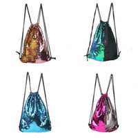 Wholesale yoga shopping for sale - Group buy Two Color Mermaid Sequin Backpack Large Space Students Favor School Bags Shiny Quality Leisure Shopping Bag High End js ZZ