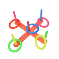 Wholesale Circle Puzzle - Cross 5 Ring Children Classic Intelligence Toys Throw Ring Circle Originality Puzzle Parenting Fitness Toy Sports Apparatus 6 5hy W